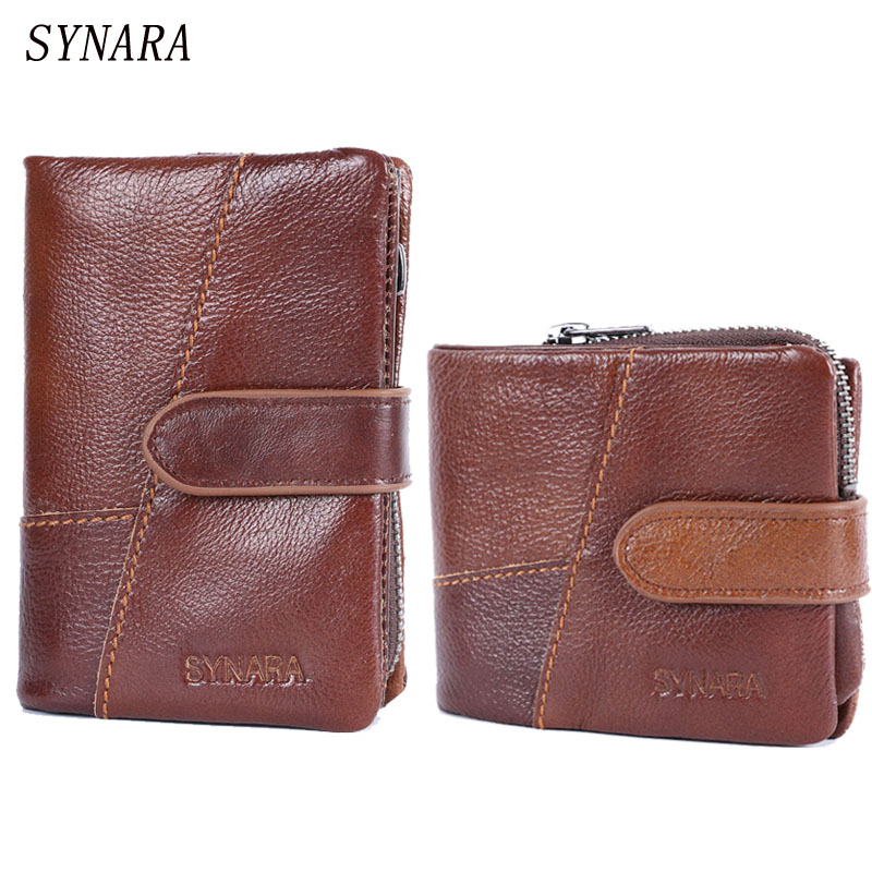 Removeable Men Wallet 100% Genuine Leather Wallet Delectable Zip Coin Pocket Men Purse High Class Money Bag Credit Card Holders new fashion men bifold wallet business leather card holder money purse cash bag coin pocket for men high quality short bag