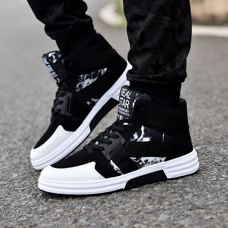Chaussures Blue Sneakers black Casual Zapatos Top Tendance Mode White Hombre Red Hommes 2018 Conseil With De Nouvelle Étudiants Black black High Respirant 1gwdn7