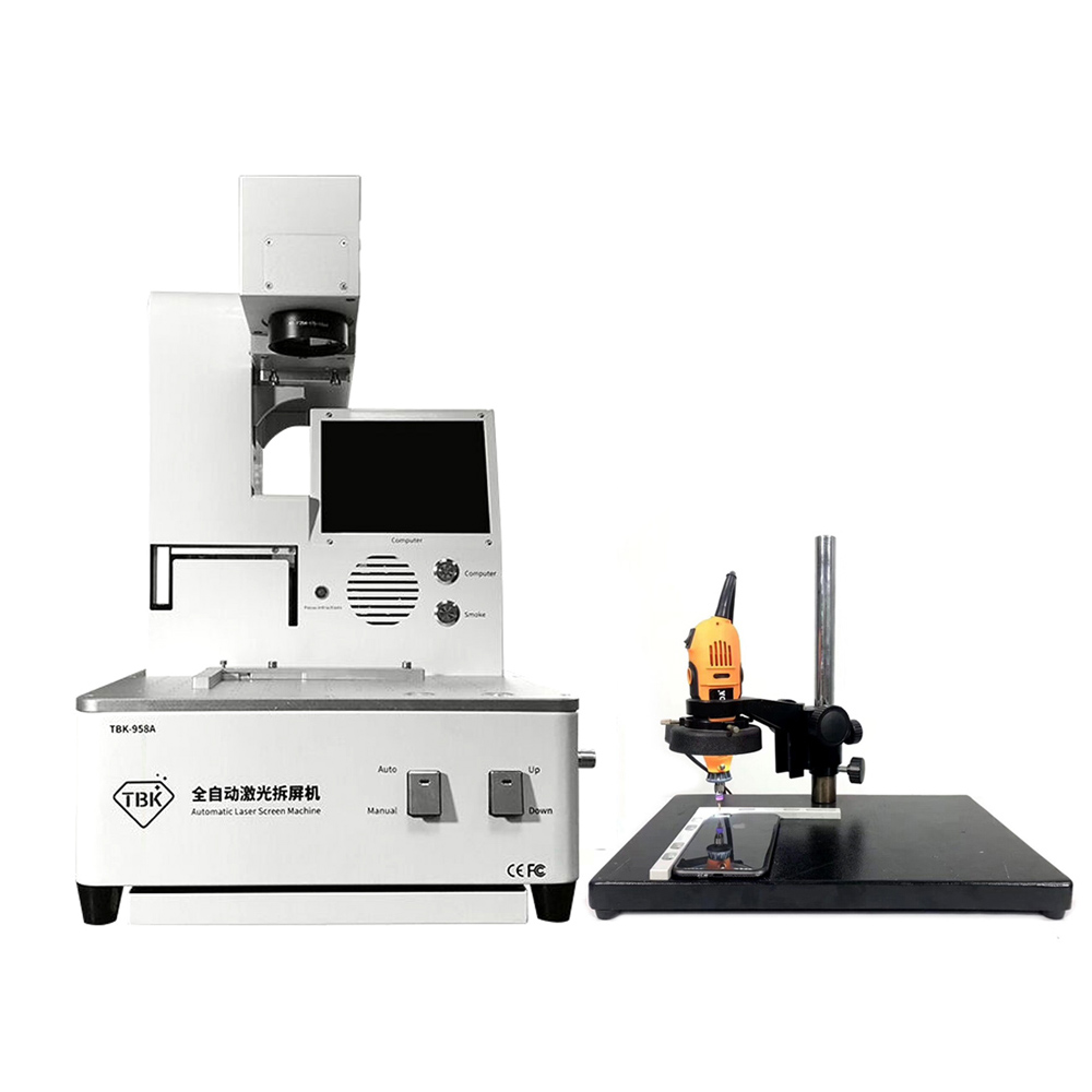TBK Laser Engraving Machine + Grinding Machine + Microscope Base Stents Used For iPhone 8P Border Laser Repair Marking Lettering