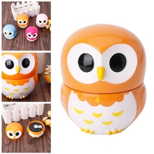 High Quality Cute Owlet Mechanical Kitchen Timer 60 Minute 1 Hour Cooking Baking Tool Gift e74 cute 60 minute ladybug timer easy operate kitchen useful cooking timer ladybird shape
