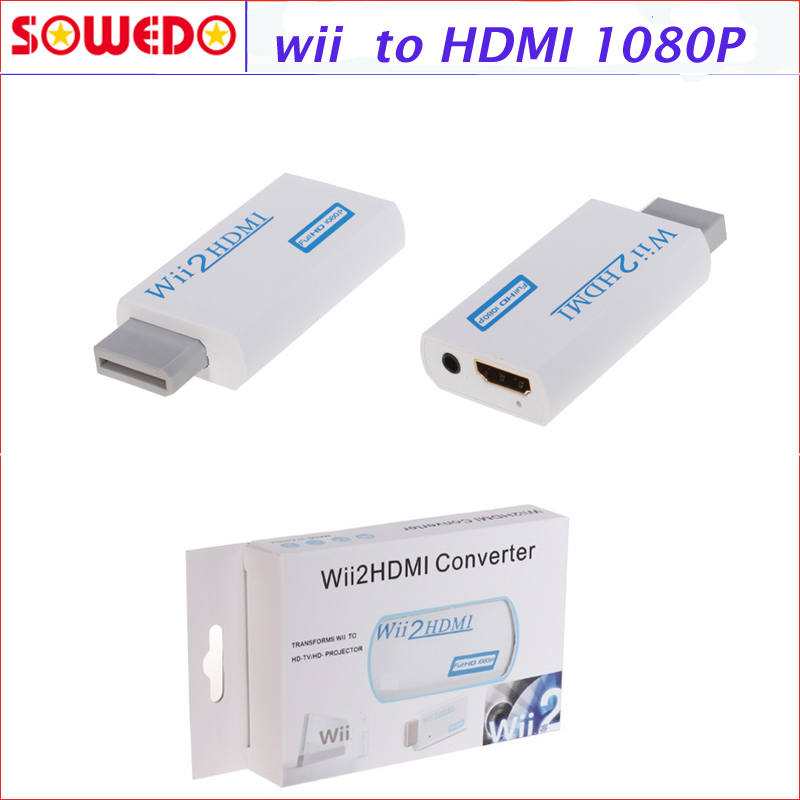 2016 New W ii To HDMI 720P 1080P Upscaling Converter Adapter with 3 5mm font b