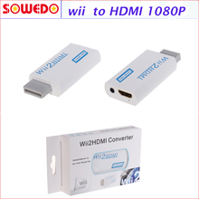 2016 New W ii To HDMI 720P/1080P Upscaling Converter Adapter with 3.5mm Audio Output Free shipping