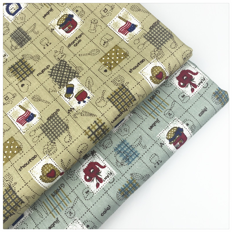 DIY Handmade Sewing Craft The Cloth Bedding Home Textiles Material Afternoon Tea Print Twill Cotton Fabric By Meter Patchwork