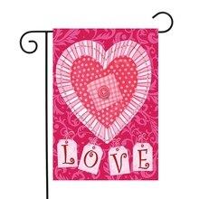 263595347e5 2019 nuevo diseño de corazón amor, rojo, rosa, Día de San Valentín bandera  jardín 30*45 cm
