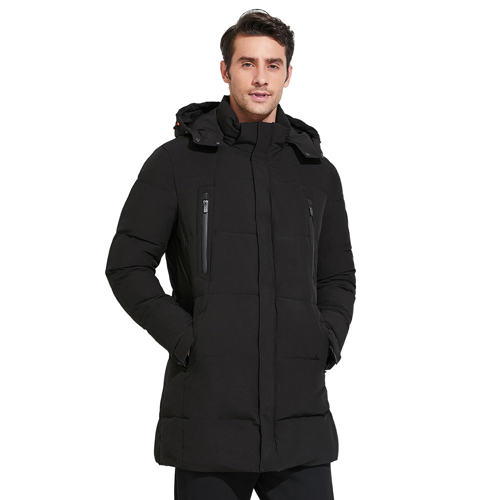 ICEbear 2018 Men's Apparel Winter Jacket Men Mid-Long Slim Thick Warm Top Quality Waterproof Zipper Brand Coat For Men 17MD942D фотоальбом 6171