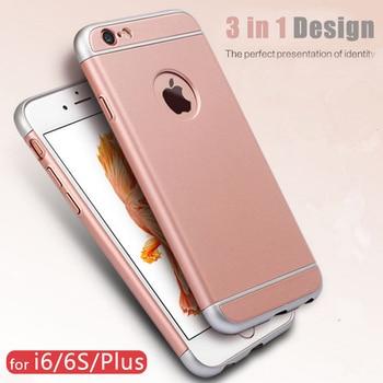 360 Full Body Protective Case for Fundas iPhone 6 6plus Non Slip Design Cover 3 in 1 Detachable Plastic Hard Phone Case Capinhas iphone 6 plus kılıf