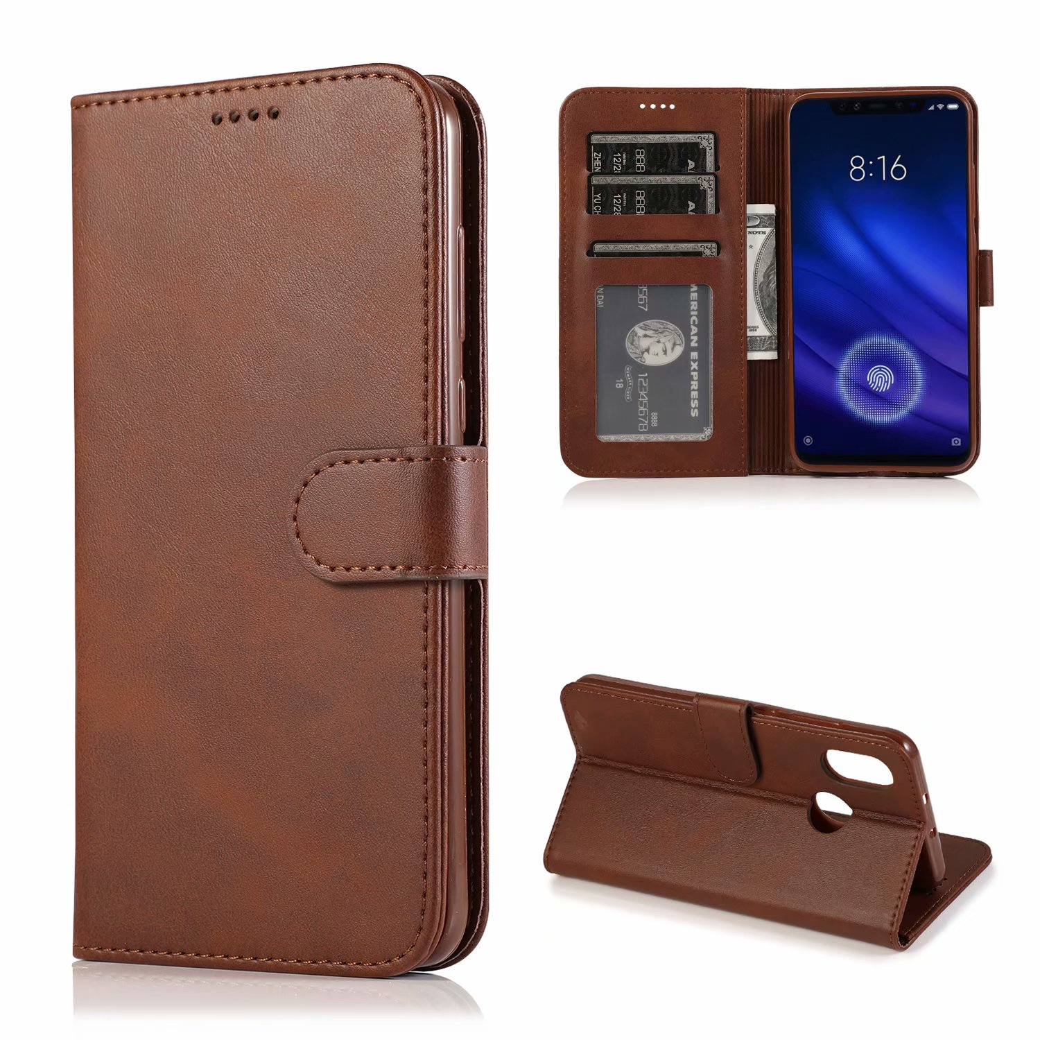 NEW For Xiaomi mi 8 Case Cover Flip Leather Cases Stand PU With Card Holder