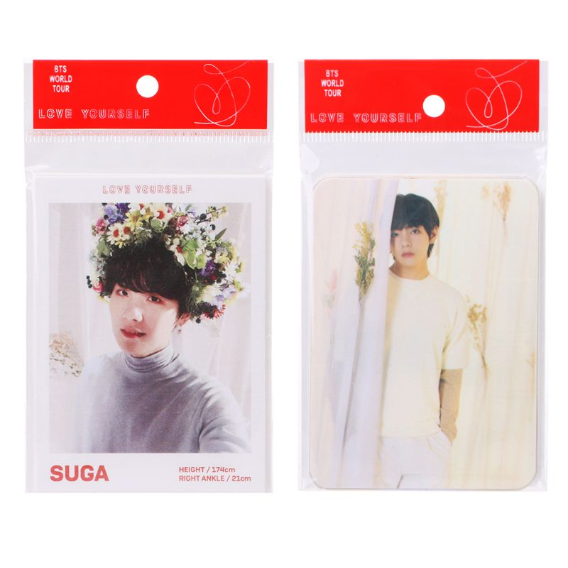 Us 0 75 19 Off 7 Pcs Set Kpop Bts Love Yourself Answer Photo Lomo Cards New Album Photocard In Business Cards From Office School Supplies On
