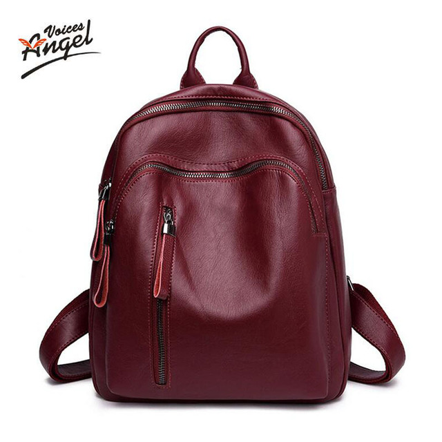 f63c1cb35f Women Genuine Leather backpack fashion youth korean style shoulder bag  Multifunction backpack schoolbags for teenager girls
