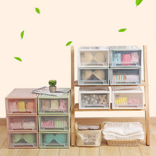 New Plastic Home House Cloth Shoes Organizer Bra Underwear Socks Storage Box 10 Grids/15 Grids Makeup Case 37*25.3*14cm(China)