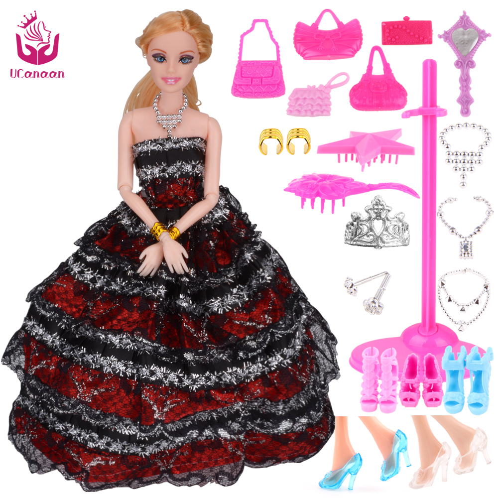 2016 New Fashion Doll Party Wedding Dress Dolls New Style Moveable Joint  Body Plastic Classic Toys 849df2871f22
