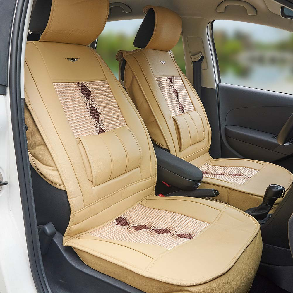 2PCS Leather Car Seat Cushion for Front Seats Automobiles Seat Covers Back Support Car Interior Accessories hot sale car seat back covers protectors for children protect back of the auto seats covers for baby dogs drop shipping
