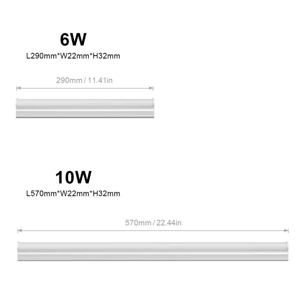 AIMENGTE T5 светодиодный светильник для шкафа 6 Вт 10 Вт флуоресцентный T5 декор для трубок шкаф для кухни суперяркое освещение Светодиодная флуоресцентная лампа