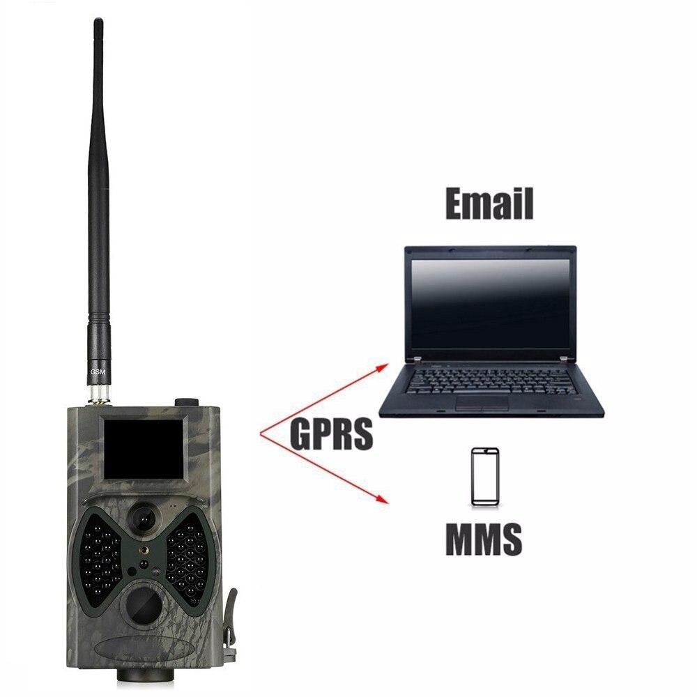HC-300M 16MP MMS/Email 1080 P caméra de faune IR nuit vidéo chasse piste caméra HC300M 100 degrés 65 pieds CE ROHS FCC approbation - 2