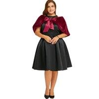 LANGSTAR 2017 Plus Size 5XL Lace Insert Sleeveless Vintage Party Dress Vestido Robe Femme Big Size