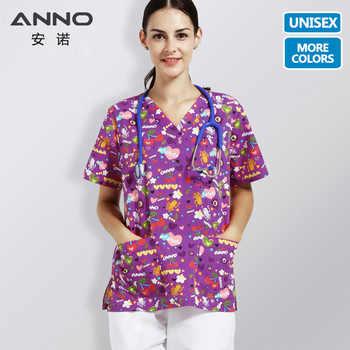 ANNO Purple Nursing Uniform Medical Scrub Suits Children Hospital Doctors Clothing Nurses Wear Beauty Salons Medical Uniforms - DISCOUNT ITEM  15% OFF All Category