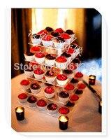 Günstigste 5 Tier Quadrat Klares Geburtstag Party Dekoration Von Fach Hochzeit Kuchen Kuchenständer Für Hochzeit Dekoration