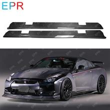 For Nissan R35 GTR Carbon Fiber Under Board Body Kit Tuning Part Varis Side Skirt Board(For OEM Skirt)