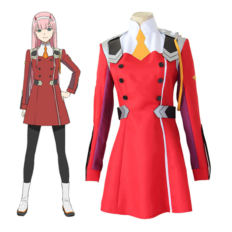 Anime DARLING in the FRANXX CODE ZERO TWO 002  Cosplay Costume Women Costume Uniform Suit