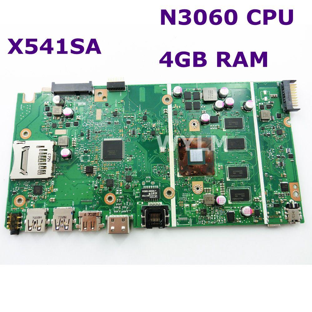 X541SA N3060 CPU 4 GB RAM carte mère REV 2.0 Pour ASUS X541 X541S X541SA mère d'ordinateur portable 90NB0CH0-R00010 Test ok livraison gratuite