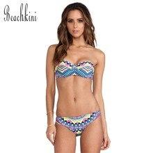 5273e5e5f1771 New Bikini Push Up Swimwear Triangle Women Beachwear Swimsuits Female  Bathing suit 2017 Tankini set