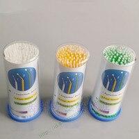 4 Bottlesx100pcs Tek Kullanımlık Mikro Aplikatör Fırça Kirpik Uzatma Fırça Bireysel Tıbbi Maskara Fırça Güzellik Sopa