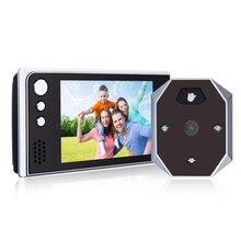 Profesjonalne Drzwi Telefon 3.5 Cal 120 Stopni Szerokokątny Obiektyw LCD Dzwonek Do Drzwi Z Night Vision Kamera Wysokiej Rozdzielczości dzwonek do drzwi