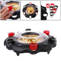 1 Set Electric Drinking Game Set Roulette Adult Party Casino Style 6 Shot Glasses Gift Adults Kids Children Party Games