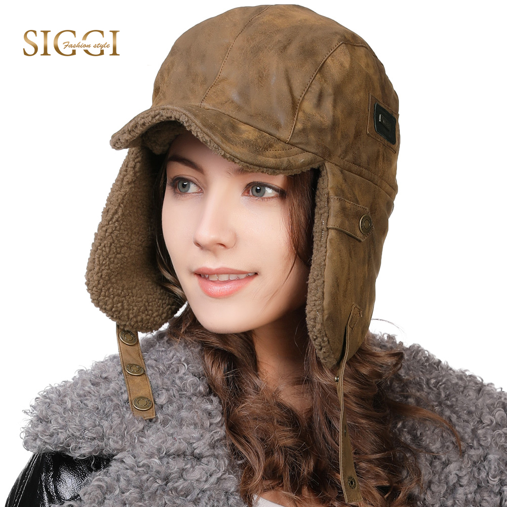 FANCET Winter Viscose Warm Unisex Bomber Hats For Women Men Solid Ear Flap Fleece Ushanka Soft Fashion Bonnets Russia Hats 99708(China)