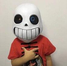 Jogo Máscara Cosplay Crianças Adlut Undertale Sans Látex Máscaras de Halloween Fantasia Bola Luminosa Adereços Capacete