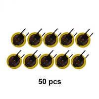 50 teile/los 2-Pin CR1220 3 V Lithium Li-Ion Batterie mit Schweißen Füße Konventionelle Horizontale Kunden BIOS DL1220 Münze batterien