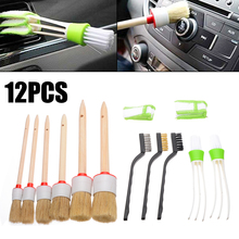 Mayitr 11pcs/set Car Detailing Brush Kit Auto Vehicle Interior Air Vent Wheel Brushes For Car Cleaning Tools david kent ballast interior detailing concept to construction