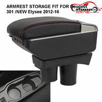 CITYCARAUTO BIG SPACE+LUXURY+USB armrest Storage content box stowing tidying FIT FOR Peugeot 301 NEW citroen c Elysee 2012 16