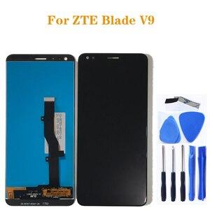 Image 1 - Için zte Blade V9 LCD cam ekran dokunmatik ekran digitizer değiştirme için zte BLADE V9 LCD ekran cep telefonu aksesuarları + araçları