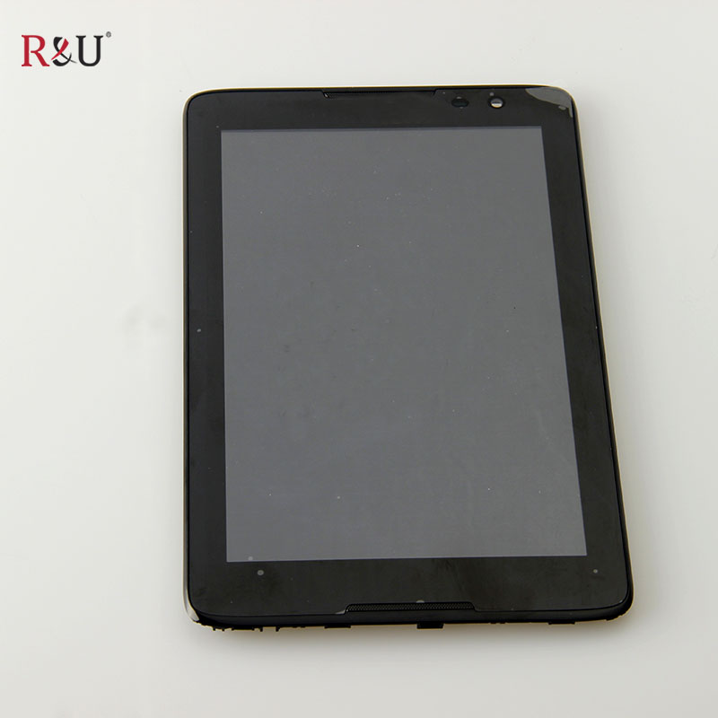R&U Used parts LCD Screen Display + Touch screen Digitizer Assembly with Frame Replacement For Lenovo tab A8-50 A5500 A5500F  a lcd display with touch screen digitizer assembly with frame replacement parts for lg g flex 2 ls996 h955a lg614 free shipping