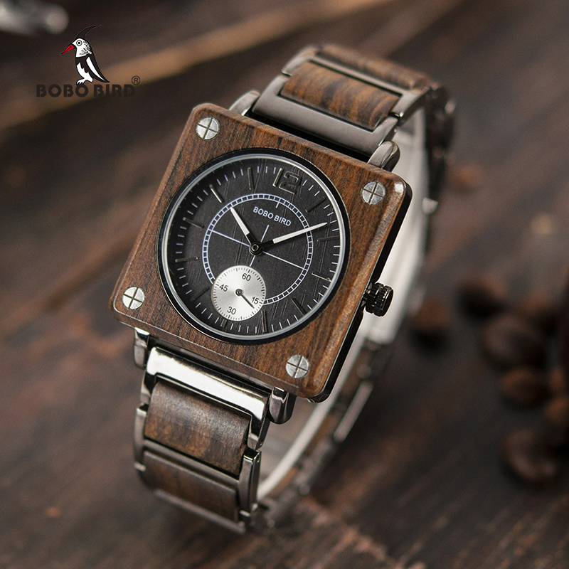 BOBO BIRD Top Luxury Wood Watches Men Quartz Wristwatch Timepiece New Design Best Gift Relogio Masculino In Gift Box L-R14