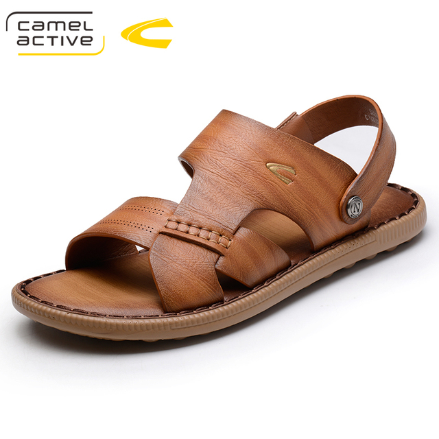 fb7495c8104 Camel Active Men Sandals Genuine Leather Summer Hollow Breathable Non-slip  Casual Outdoors Beach Shoes Large size EUR 38-44