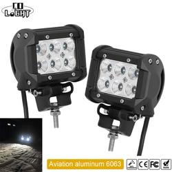 CO LIGHT 1 Pair Led Drl 18W 4'' Spot Flood Led Working Lights 12V 24V for Offroad Lada Niva Uaz Tractor Audi Mazda Jeep Trucks