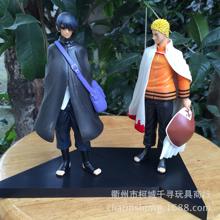 2pcs/set 16cm Naruto Uzumaki Naruto + Uchiha Sasuke Action Figures Anime PVC brinquedos Collection Model toys Free shipping anime naruto pvc action figure toys q version naruto figurine full set model collection free shipping