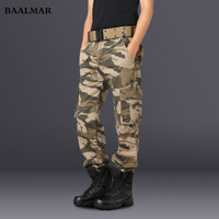 Men's Combat Multi-pockets Utility Casual Loose Long Full Length Cargo Pants Work Trousers Camouflage Pants Men Tactical Pants