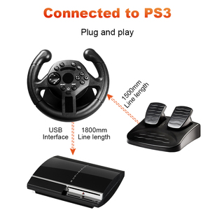 Image 5 - Data Frog Racing Game Pad 180 Degree Steering Wheel Vibration Joysticks For PS3 Game Remote Controller Wheels Drive For PC