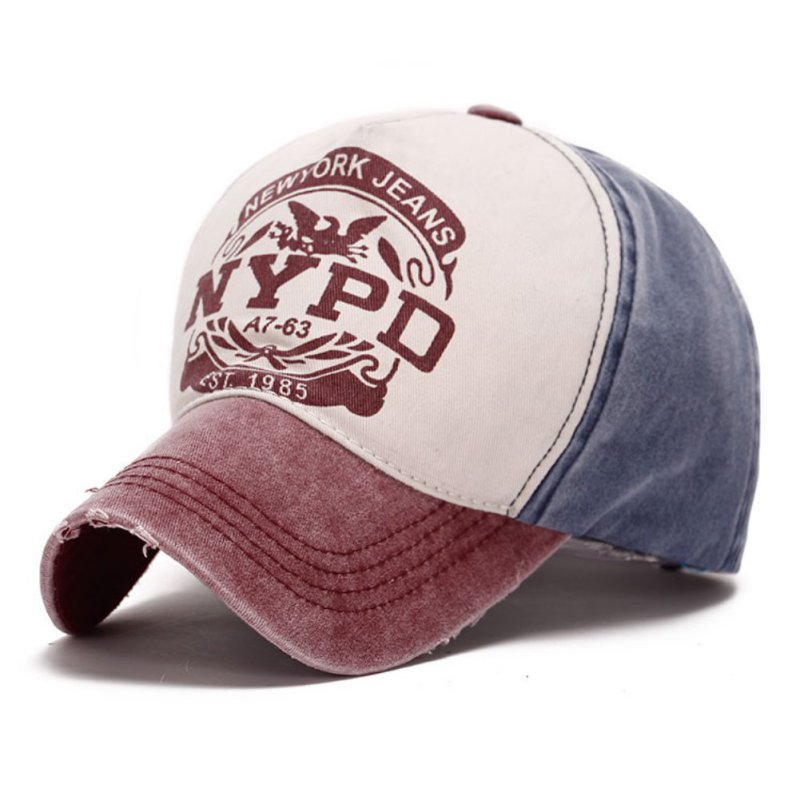 NYPD Letter Sunhat Outdoor   Cap   Summer Adult Quick Drying   Cap   Outdoor Sports Casual   Baseball     Cap   Adjustable Beach Cotton Sunhat