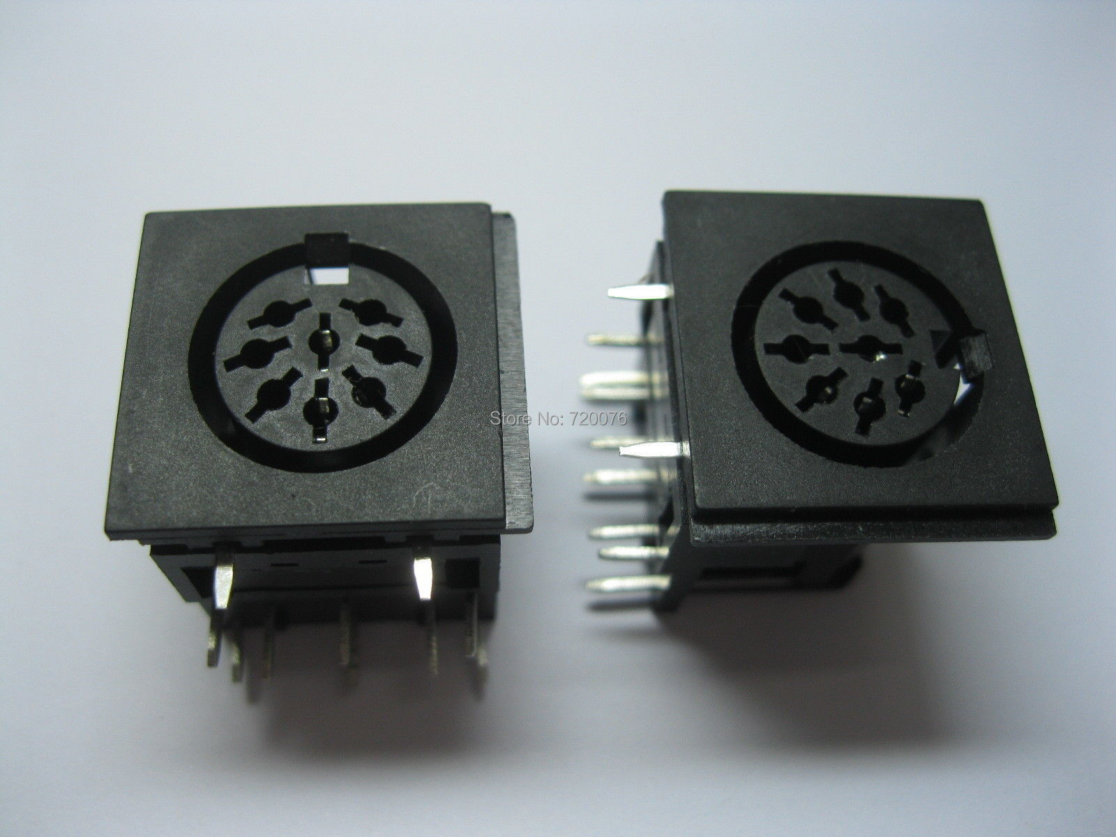 30 x Circular <font><b>DIN</b></font> Jack Female <font><b>8pin</b></font> PCB Mount Connector image