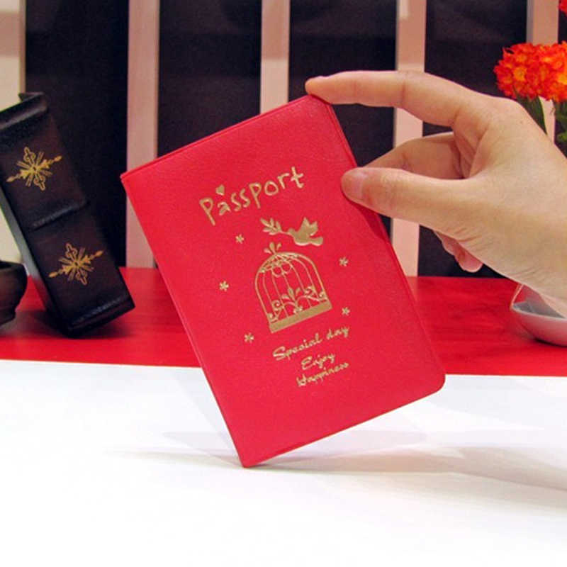 71f8d016194e 2019 New Fashion Passport Cover Documents Bag Utility PU Leather Passport  Holder Travel Pouch ID Card Package Case for Men Women