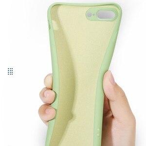 Image 5 - מקורי נוזל סיליקון טלפון מקרה עבור oppo R15 R17 פרו xiaomi 7 8 9 Se בתוספת רך ג ל גומי עמיד הלם כיסוי מגן מלא