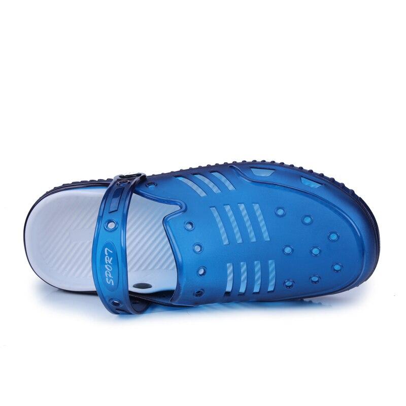 Летняя мода плюс Размеры пляжные сандалии для Для мужчин из дышащего материала Повседневное плоской подошве sandalias Hombre Новый стиль EVA легкие ...