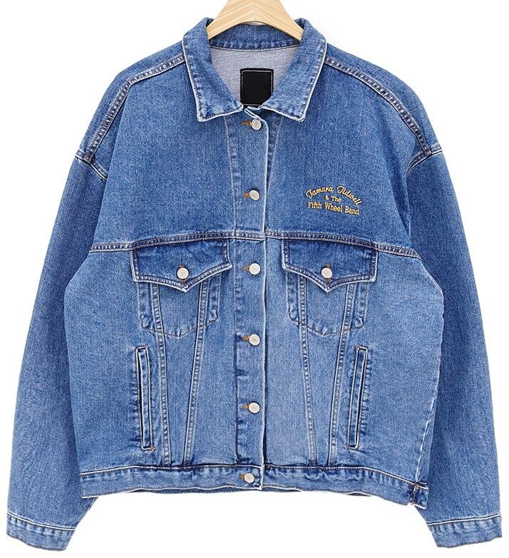 J40780 Haute qualité 2018 Automne Mode Denim manteaux pour vêtements de dessus Jeans Manteaux Lâche décontracté Style BoyFriend Denim Vestes