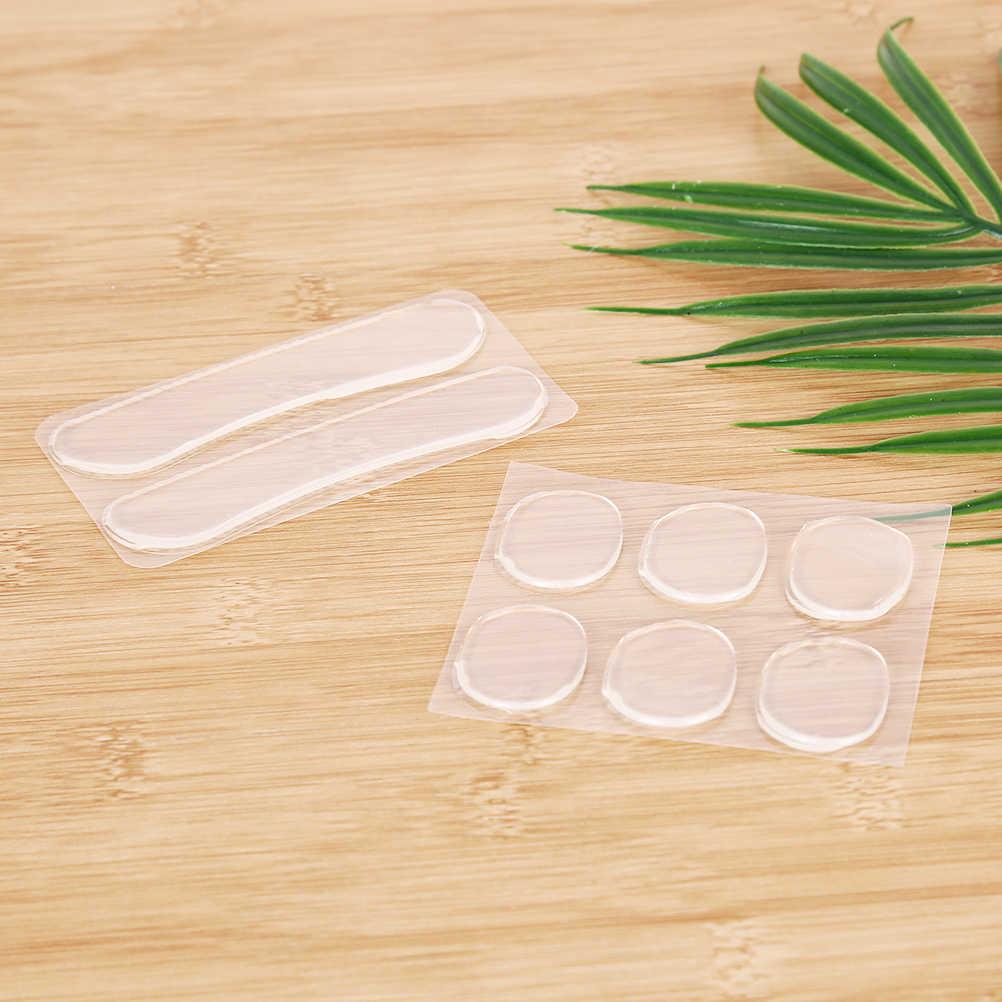 1 hoja de silicona transparente plantilla para cuidado del pie talón Grips delineador en gel zapato insertos Pad