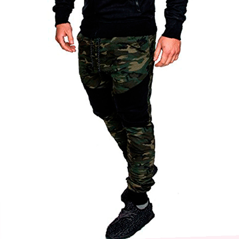 High Quality Joggers Camouflage Gyms Pants Men Fitness Bodybuilding Track Pants Runners  ...