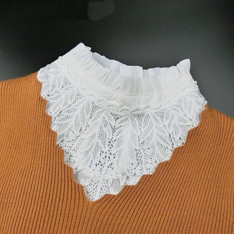 [La MaxPa] Новая мода поддельные воротник белый и черный галстук съемный воротник ложные воротник с лацканами блузка женская одежда аксессуары